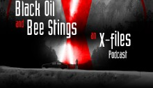 Black Oil and Bee Stings - An X-Files Podcast Logo